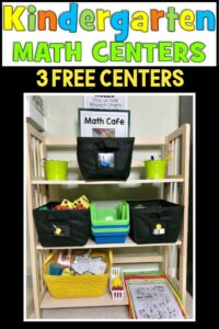 Free Kindergarten Math Center Activities