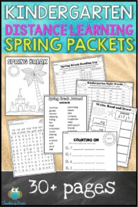 KINDERGARTEN DISTANCE LEARNING PACKET