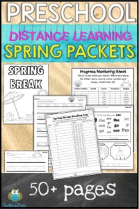 PRESCHOOL HOME LEARNING PACKET